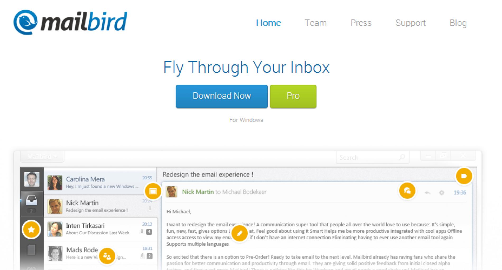 Mailbird, un efectivo cliente de escritorio para Gmail, Calendar, Facebook y Dropbox