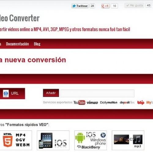 Herramienta online para la conversión de videos. VEO Video Converter.