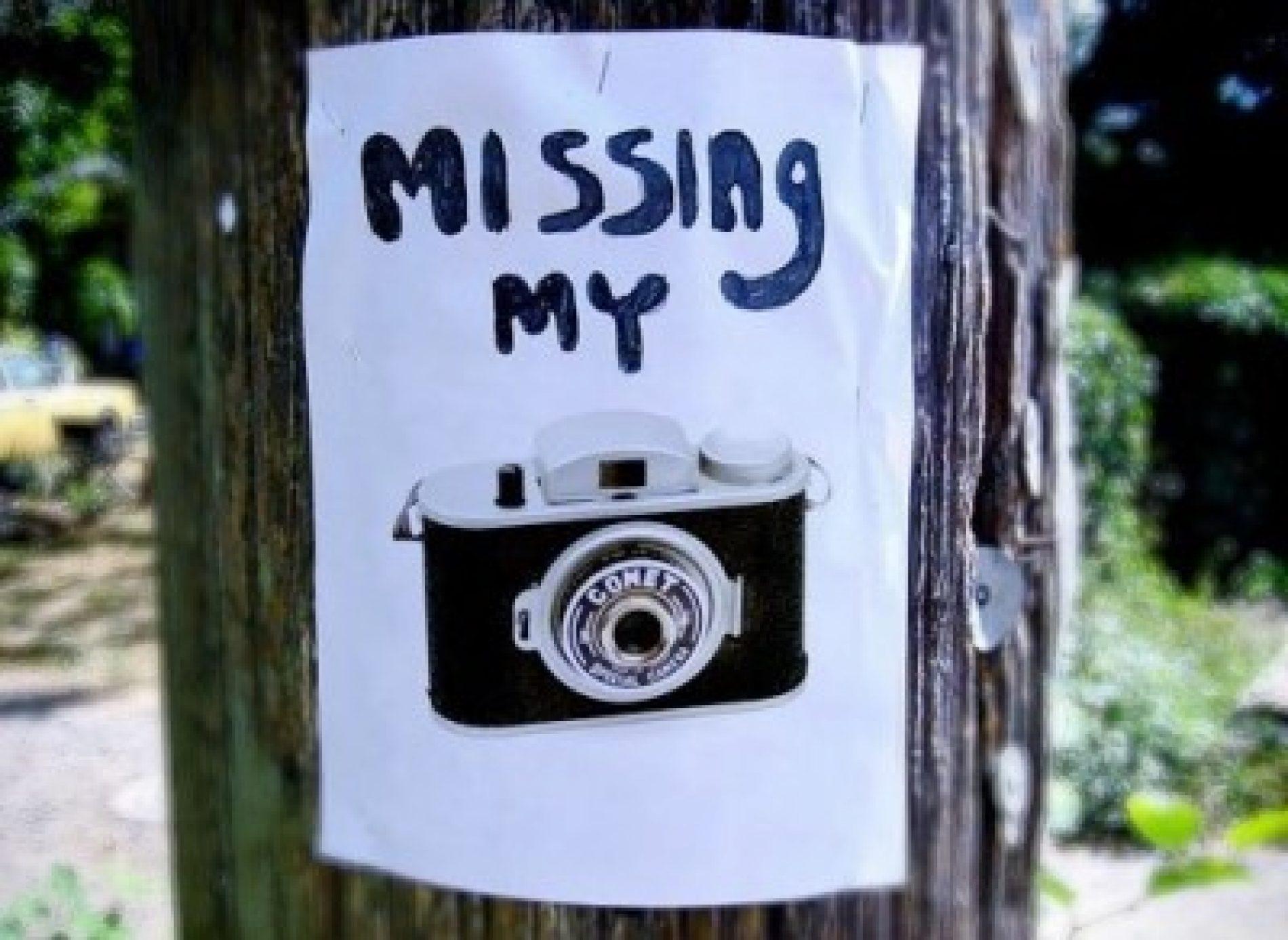 ¿Dónde está mi cámara robada?