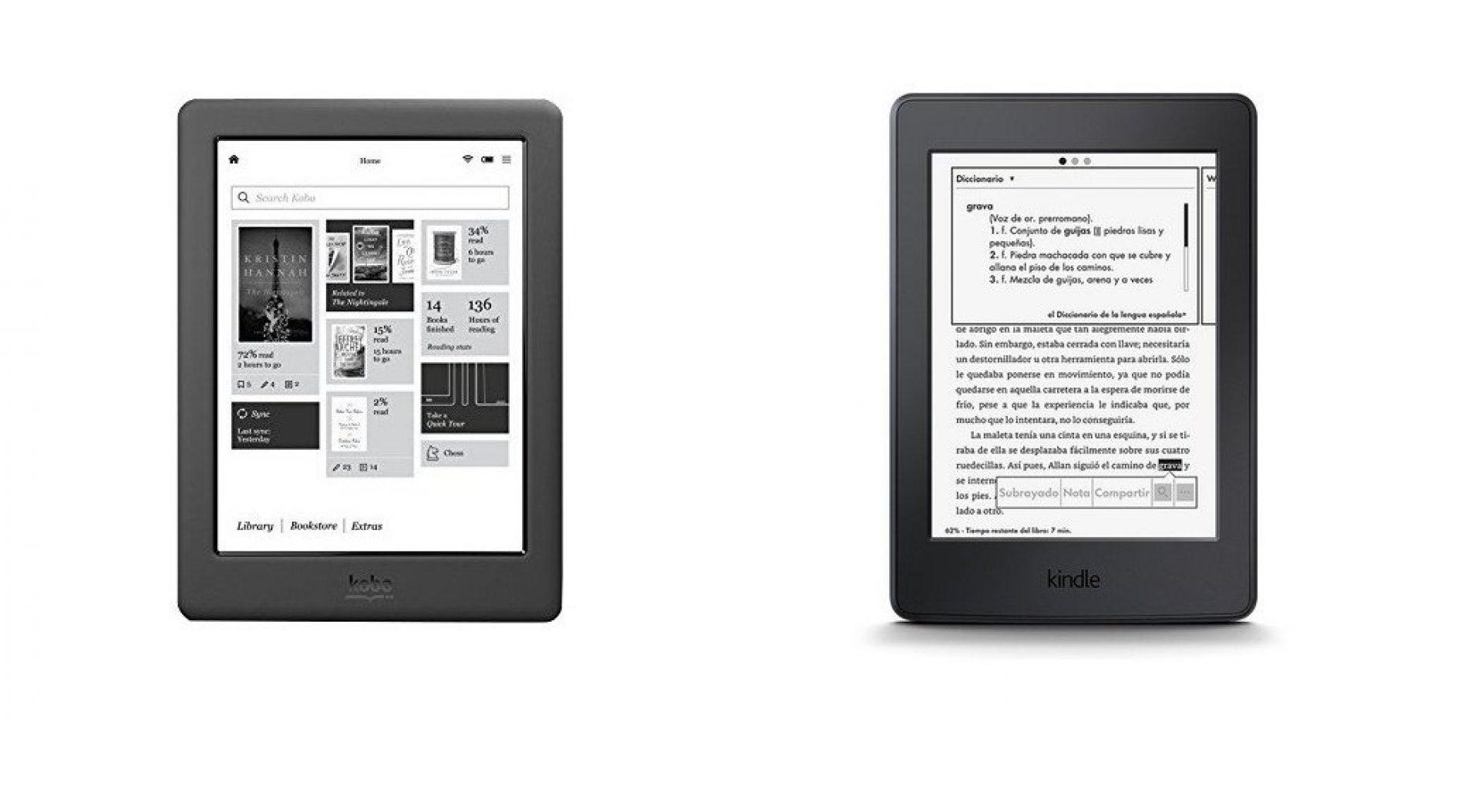 Kindle Paperwhite y Kobo Glo HD,  los mejores ebooks calidad/precio de 2016
